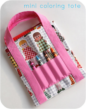 Mini Coloring Tote from lbg studio