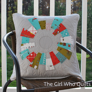 Modern Dresden Plate Tutorial by the girl who quilts