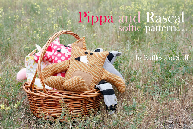 Pippa and Rascal Softies from Ruffles and Stuff