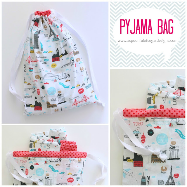 Pyjama Bag from A Spoon Full of Sugar Designs