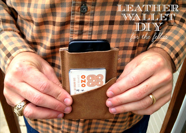 DIY Leather Wallet from Oh Sweet Joy