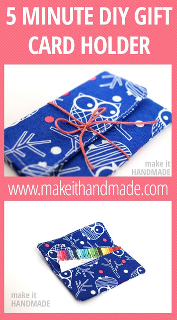 5 Minute DIY Gift Card Holder from So Sew Easy