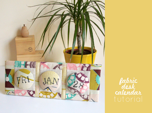 Fabric Desktop Calendar from Thompson Family and Rishida Coleman-Hale
