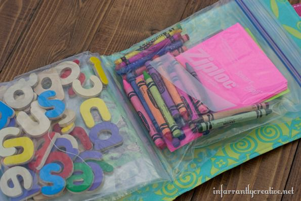 Road Trip Activity Bags from Infarrantly Creative