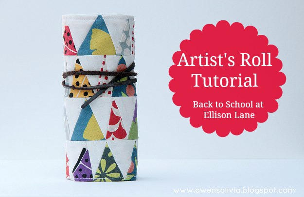 Artists Roll Tutorial from Ellison Lane, crayon, marker, pencil holder