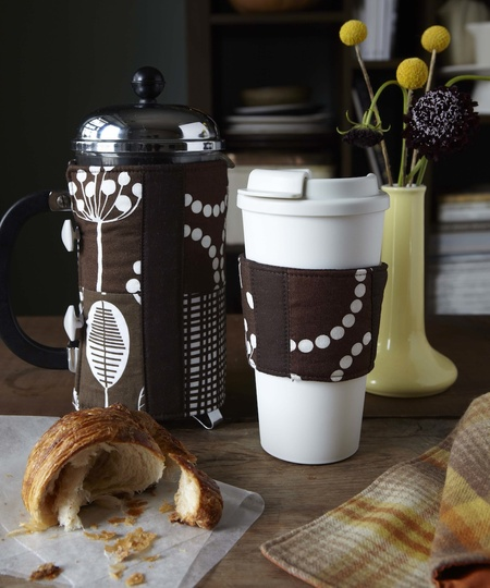 Coffee Sleeve and French Press Cozy from The Craft Foxes