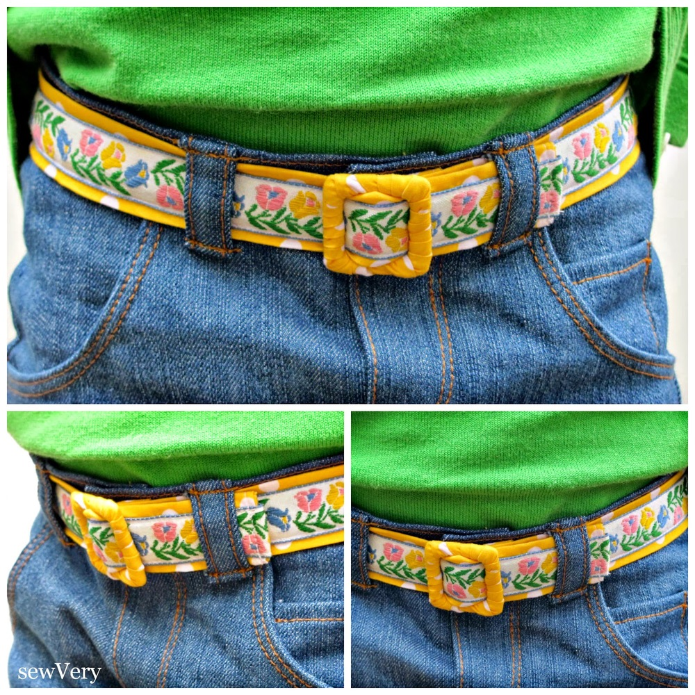 Reversible Vintage Trim Fabric Belt Tutorial from The Cottage Mama