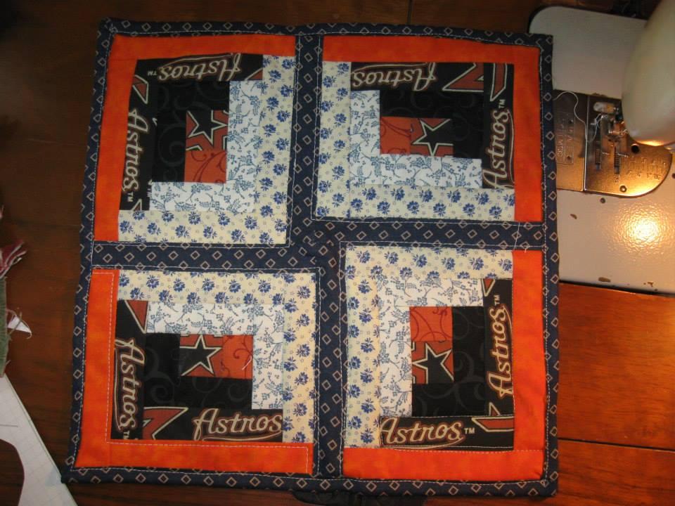 Debbie's mini Astros quilt