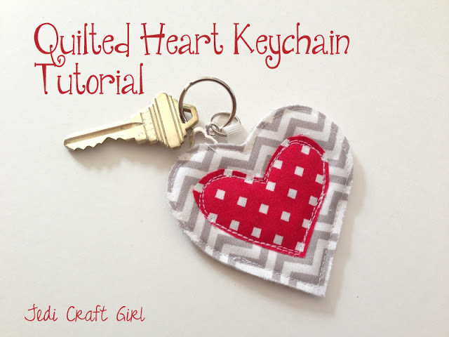 Quilted Heart Keychain from Jedi Craft Girl