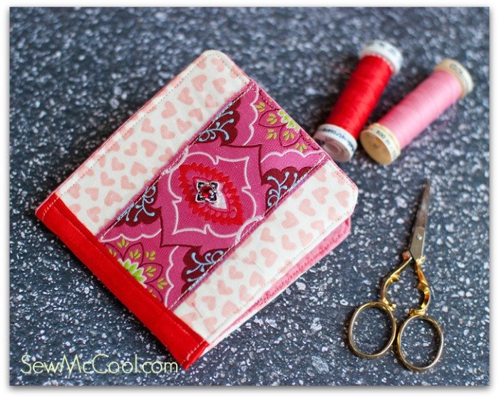 Needle case tutorial with ribbon trim from Sew McCool