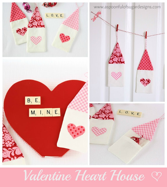 Valentine Heart House from a Spoom Full of Sugar