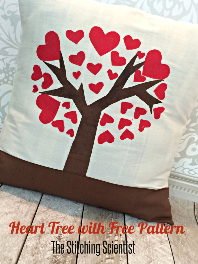 Heart Tree Pillow from The Stitching Scientist