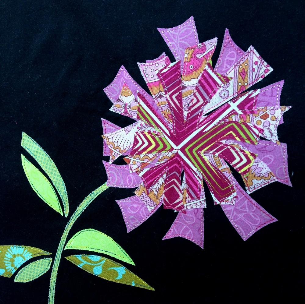 Firecracker Flower Applique Design: from the SewCanShe Applique of ... : pictorial quilt tutorial - Adamdwight.com