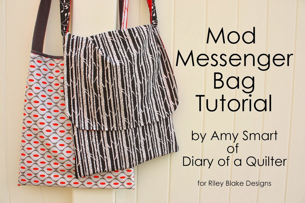 Mod Messenger Bag From Riley Blake Designs