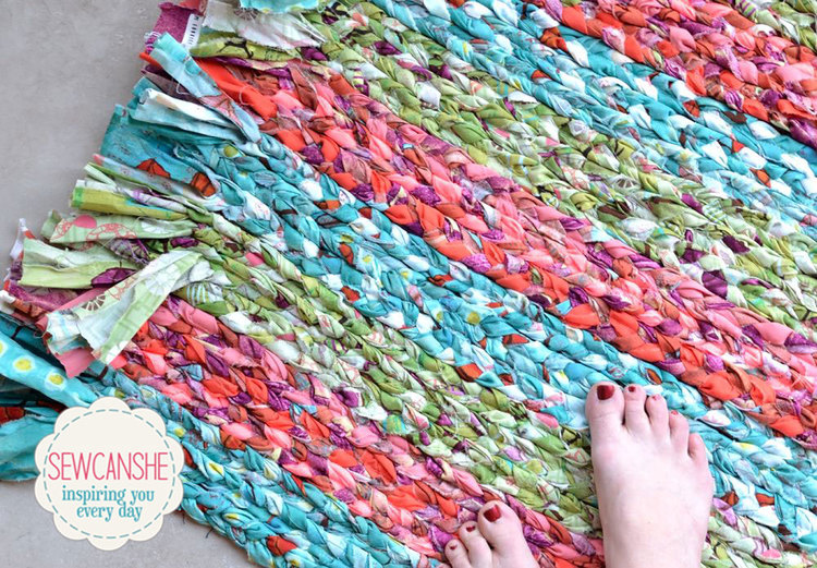 Show Off Saturday My Big Braided Rug Total Stash Buster