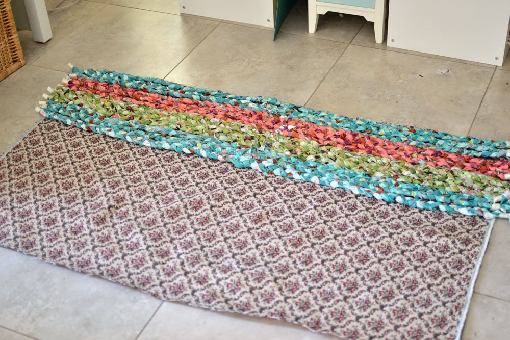 Show Off Saturday: My big braided rug... total stash ...