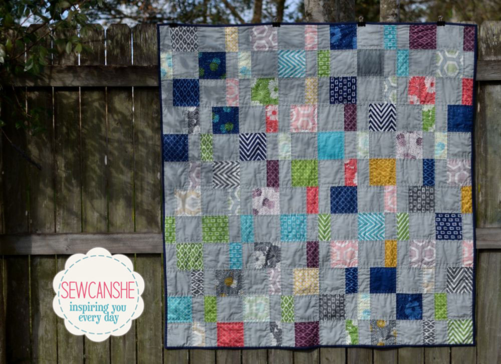 My Charm Pack Cherry Quilt From A Free Pattern