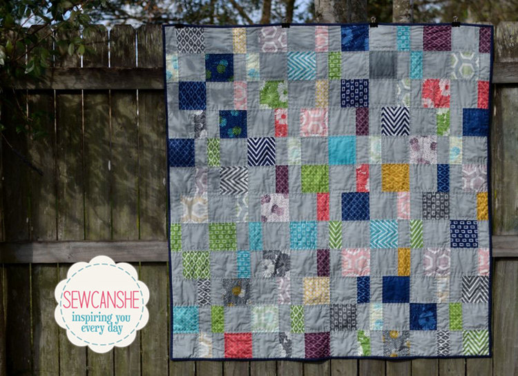 My Charm Pack Cherry Quilt From A Free Pattern Sewcanshe Free