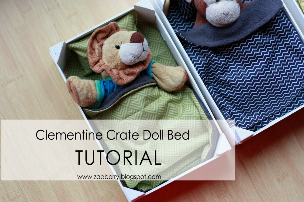 Clementine Crate Doll Bed - TUTORIAL from Zaaberry