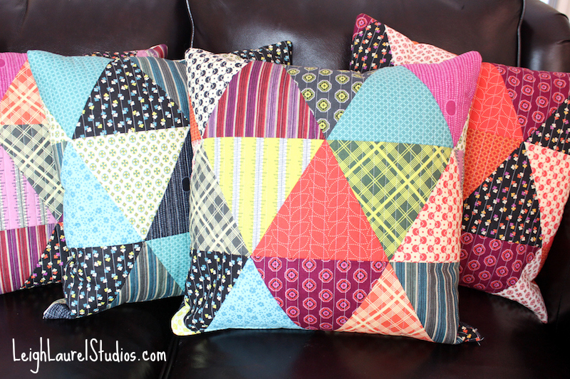 Patchwork Triangle Pillows from Leigh Laurel Studios