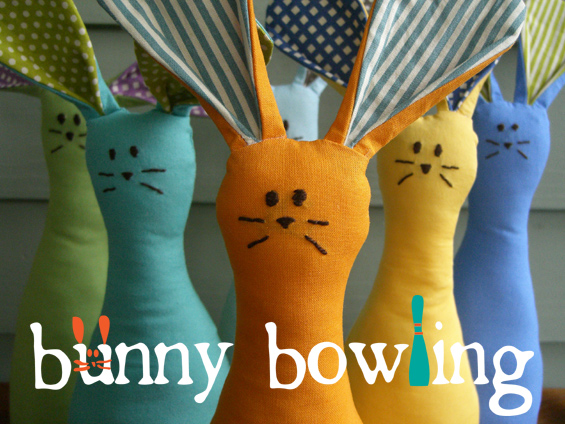 Bunny Bowling from The Etsy Blog