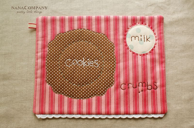 cookies and milk snack mat tutorial from Nana Company