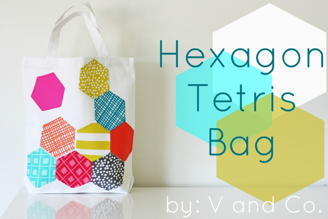 Hexagon Applique Bag from V. and Co.