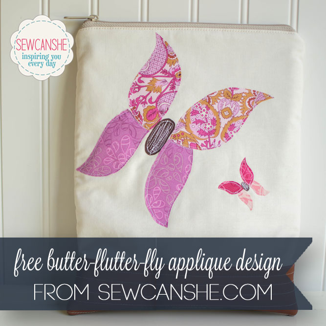 Butter-flutter-fly free butterfly applique design