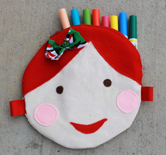 Doll Face Circle Pouch from The  Stitching Scientist