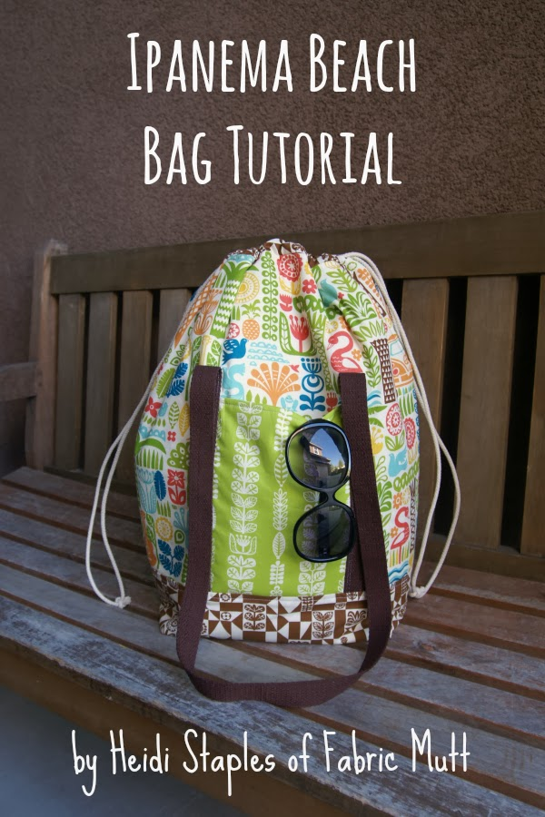 Ipanema Beach Bag Tutorial from Birch Fabrics