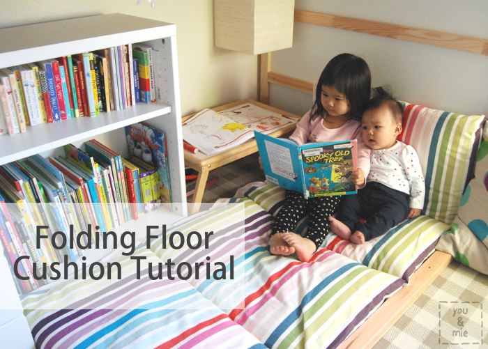 Folding Floor Cushion Tutorial from You and Mie