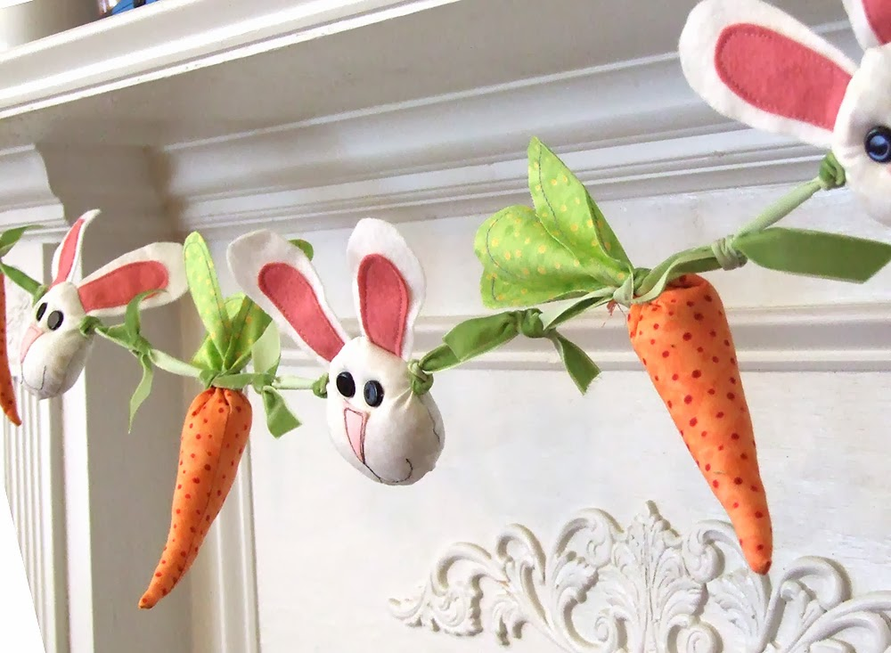 Bunnies and Carrots Garland from Jennifer Jangles