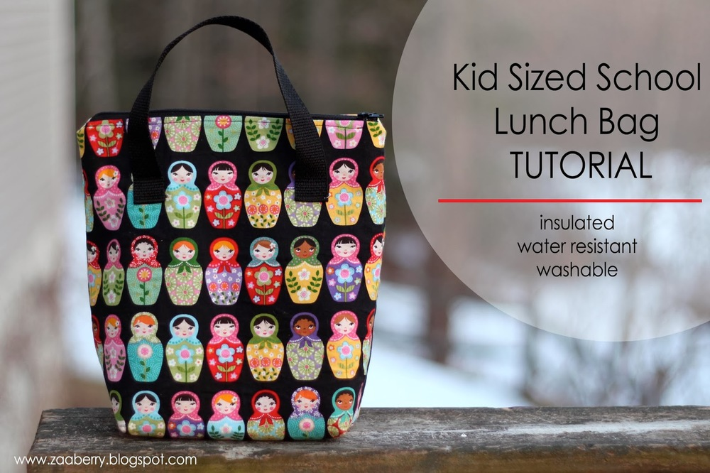 Kid Sized Lunch Bag Tutorial from Zaaberry
