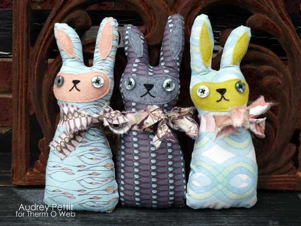Shabby-Chic Bunch O'Bunnies from Thermo Web Blog