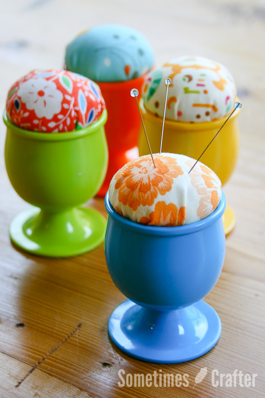 Egg Cup Pincushion from Sometimes Crafter