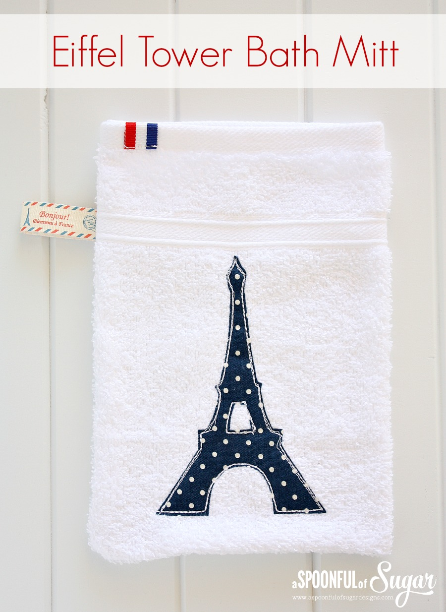 Eiffel Tower bath Mitt from A Spoon Full of Sugar