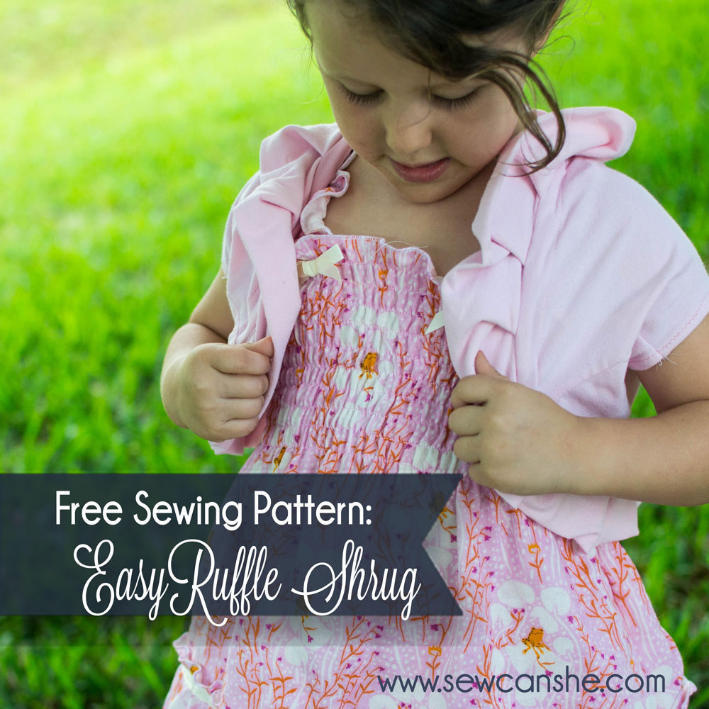 easy ruffle shrug free pdf pattern