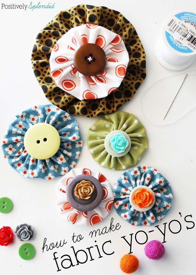 abric Yo-Yo Tutorial with Free Printable Templates from Positively Splendid