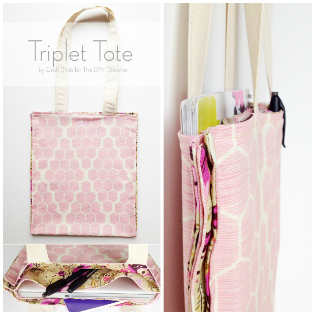 Triplet Tote Tutorial – Sewing for Beginners from the DIY Dreamer