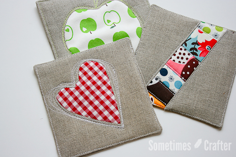 Reverse Applique Hot pad Tutorial from The Sometimes Crafter