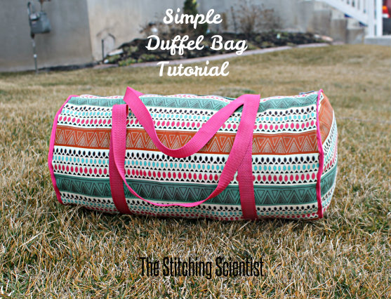 Simple Duffel Bag from The Stitching Scientist