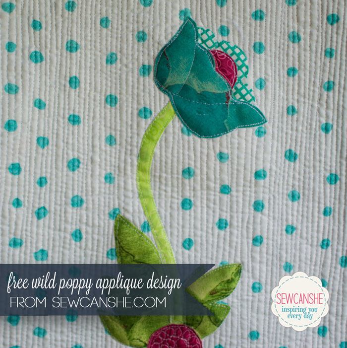Free Wild Poppy Applique Pattern Sewcanshe Applique Of The Month