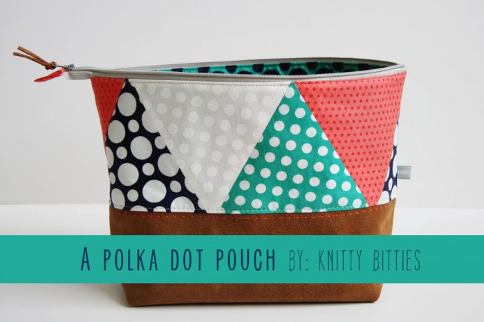 POLKA DOT POUCH BY KNITTY BITTIES
