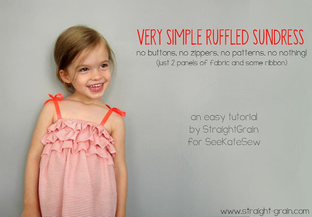 simple ruffled dress tutorial from See Kate Sew