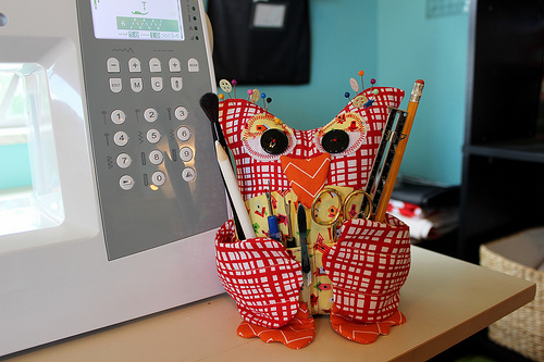Owl Sewing Notion Holder from ShaniLoves