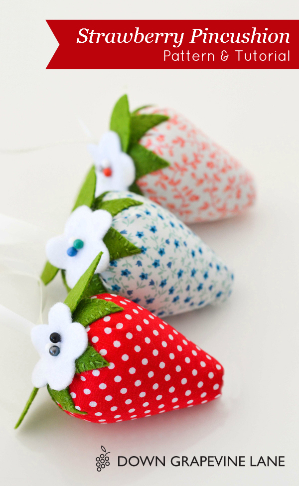 Strawberry Pincushion from Down Grapevine Lane
