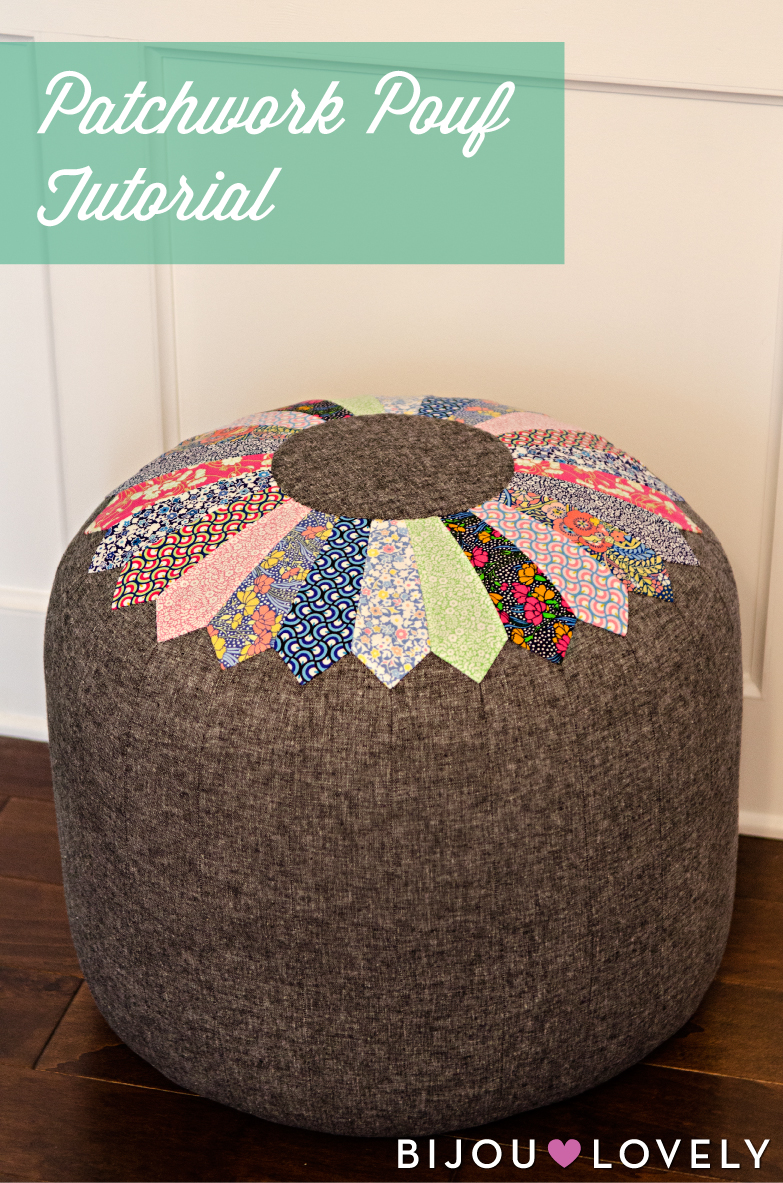 Patchwork Pouf Tutorial from Bijou Lovely