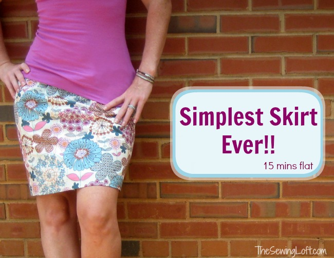 Super Simple Skirt from The Sewing Loft