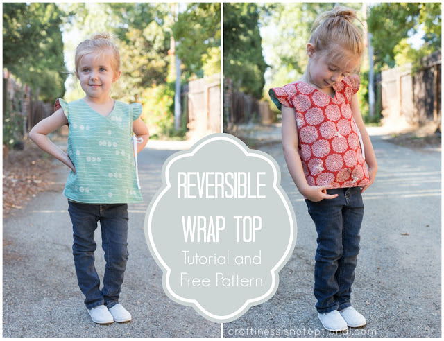 Kimono Inspired Reversible Wrap Top from Birch Fabrics