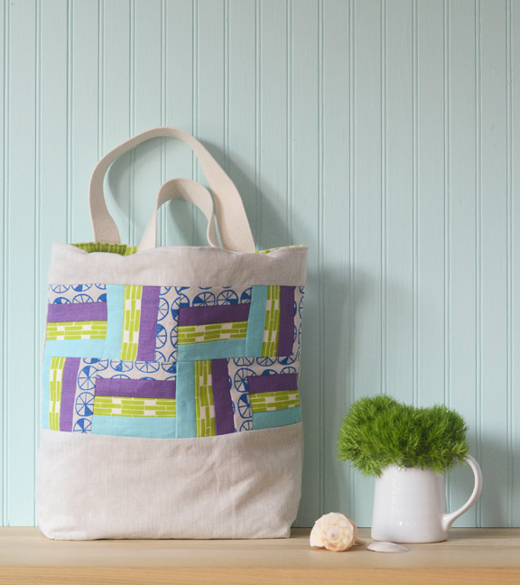 Rail Fence Tote from The Long Thread
